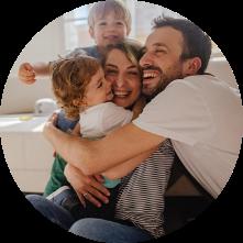 Le confort d'une vie de famille